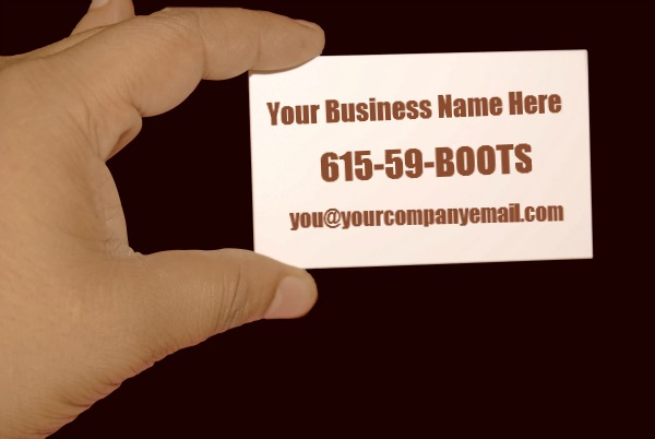 Sample Business Card | Bootstrapping Without Boots